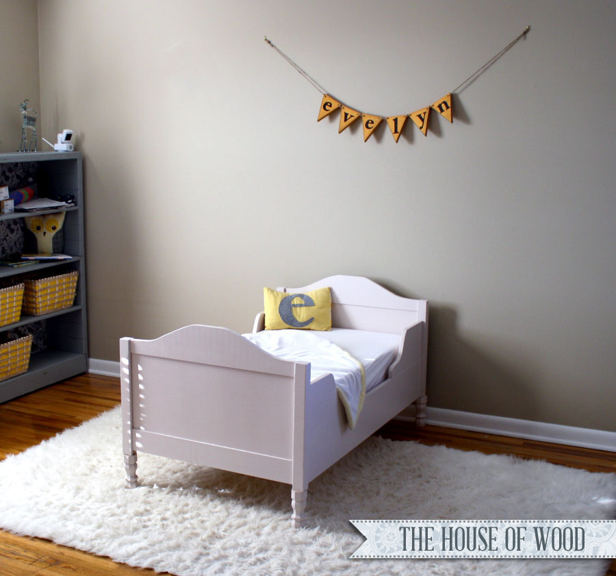 Free plans to build a beautiful toddler bed from Ana-White.com