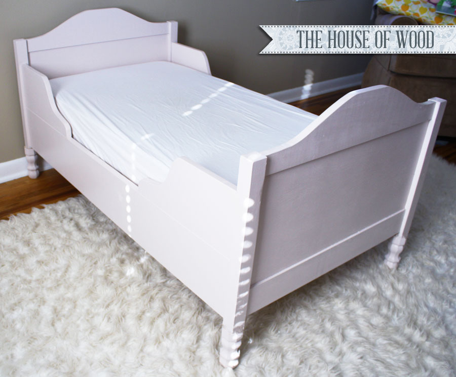 Free Plans To Build A Beautiful Toddler Bed From Ana White.com