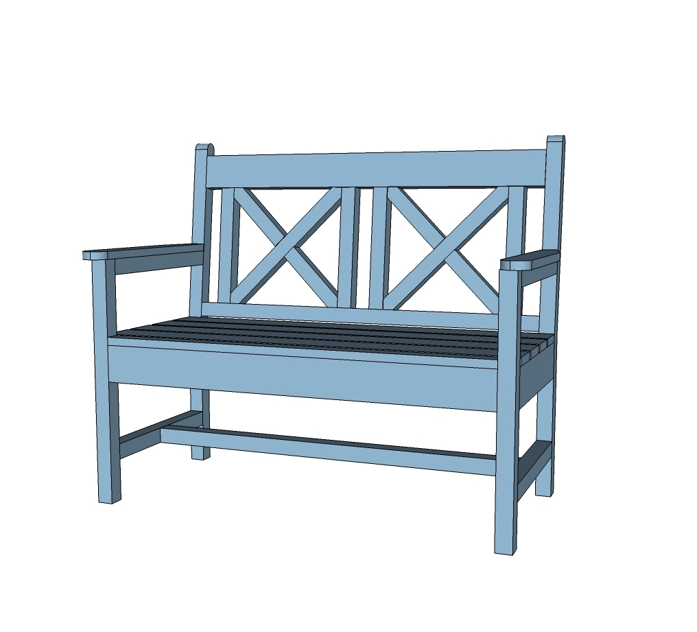 Free Plans To Build A Woven Back Bench From Ana White