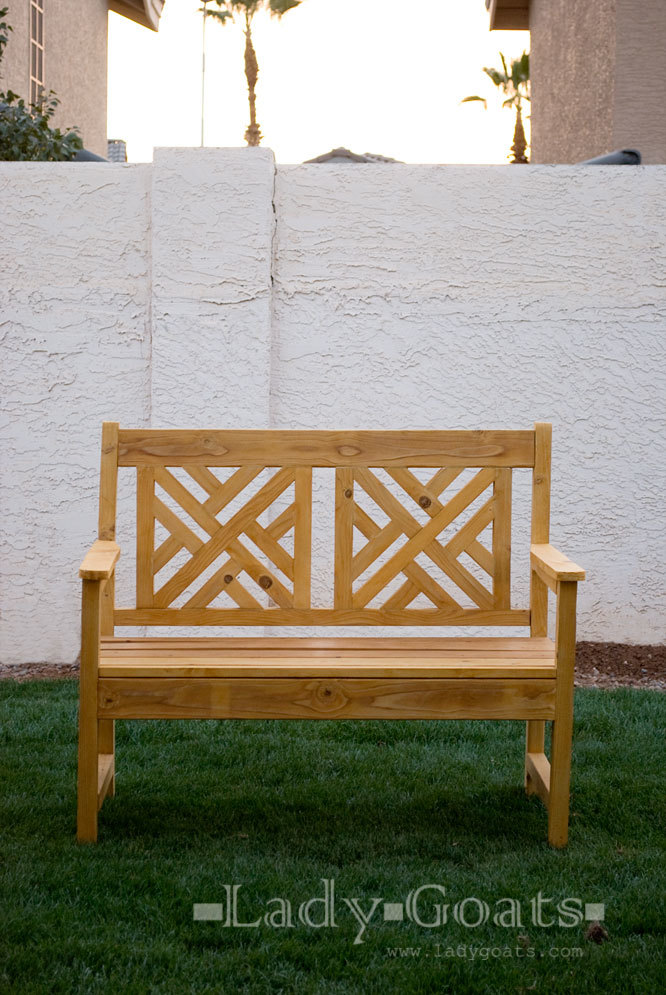 Woven Back Bench - DIY Projects