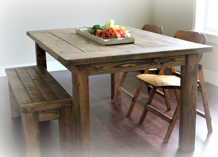 Red Hen Homes Farmhouse Table And Bench