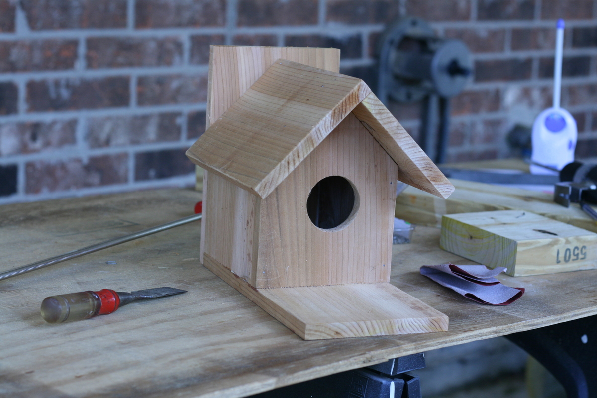 Ana white traditional bird house brag post diy projects for Simple birdhouse