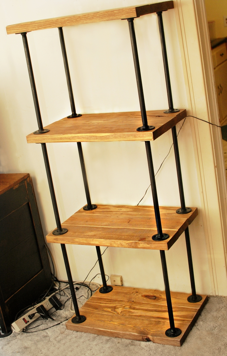 Ana white pipe wood bookcase diy projects