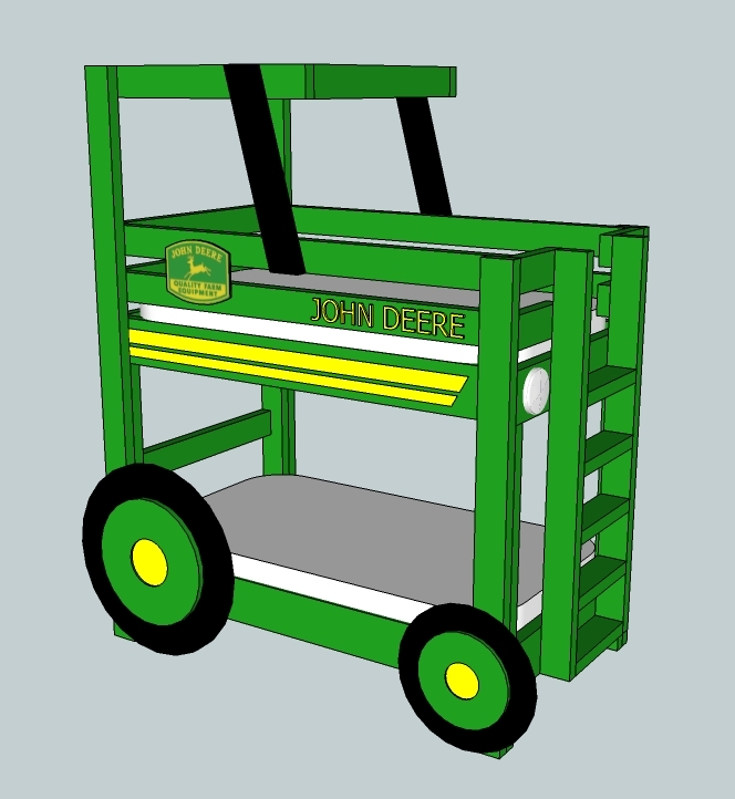 quality design 683e1 5080d John Deere Tractor Toddler Bunk Beds | Ana White