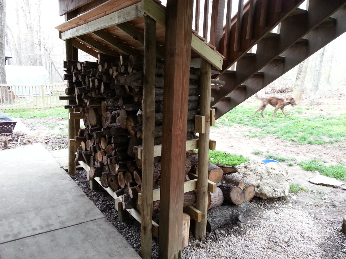 Ana White Firewood Shed Using Round Posts And 2x4s Diy