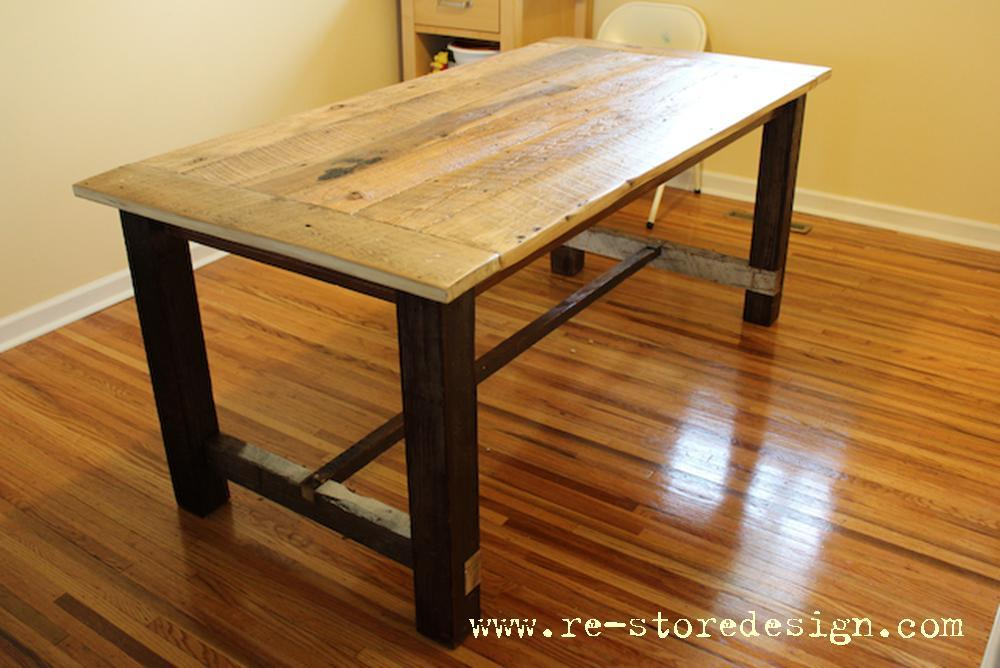 Ana White  Reclaimed Wood Farm Table - DIY Projects