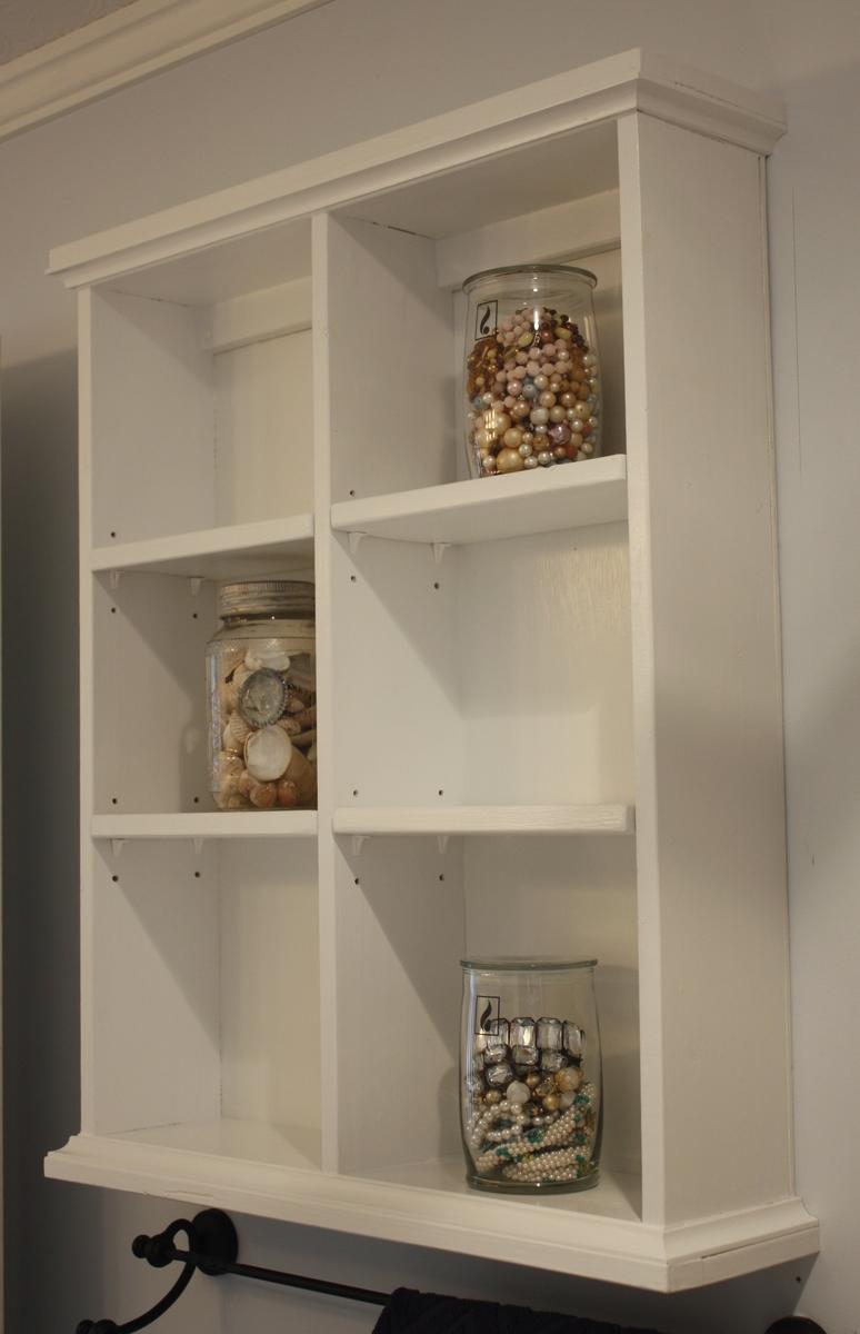ana white | bathroom wall storage - diy projects Bathroom Wall Shelf Ideas