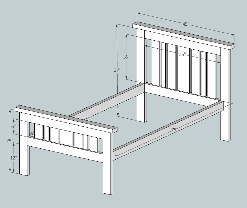 Superb 2x4 Mission Style Bed