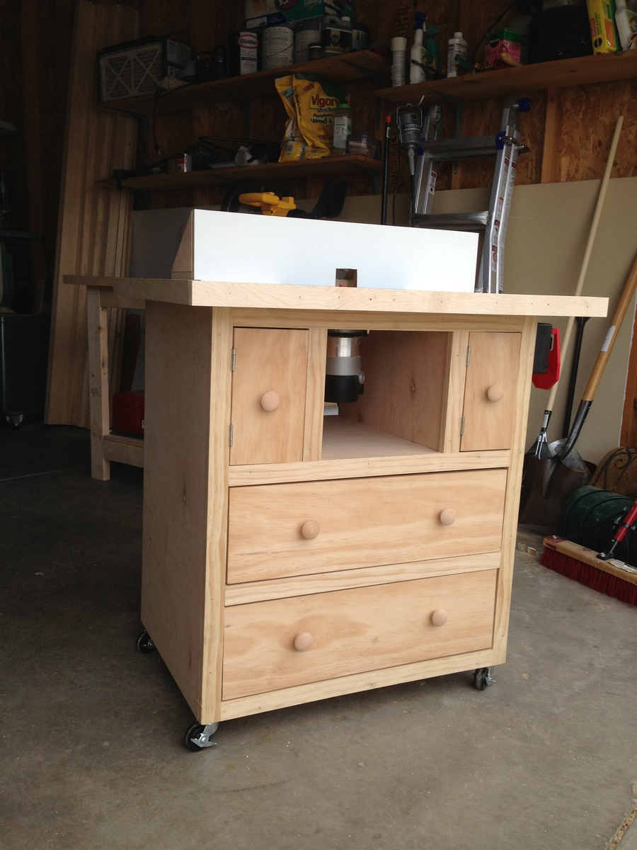 ana white router table diy projects