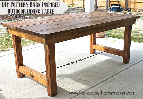 Ana white happier homemaker farmhouse table diy projects Diy farmhouse table