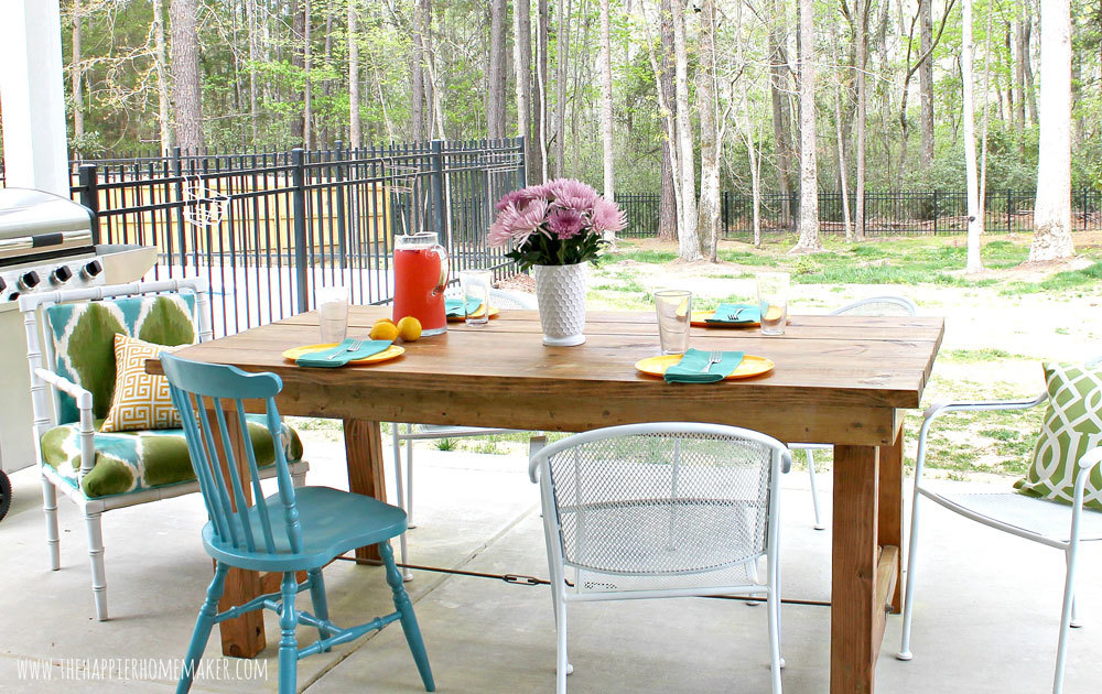 Ana White Happier Homemaker Farmhouse Table DIY Projects
