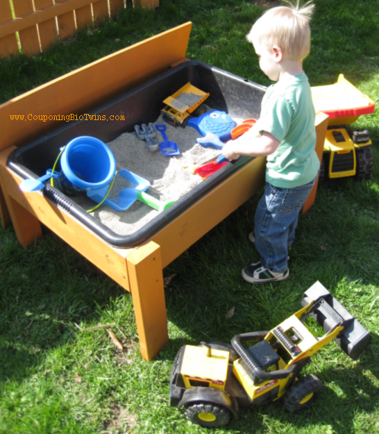 Ana white sand or water table diy projects for Diy sand and water table pvc