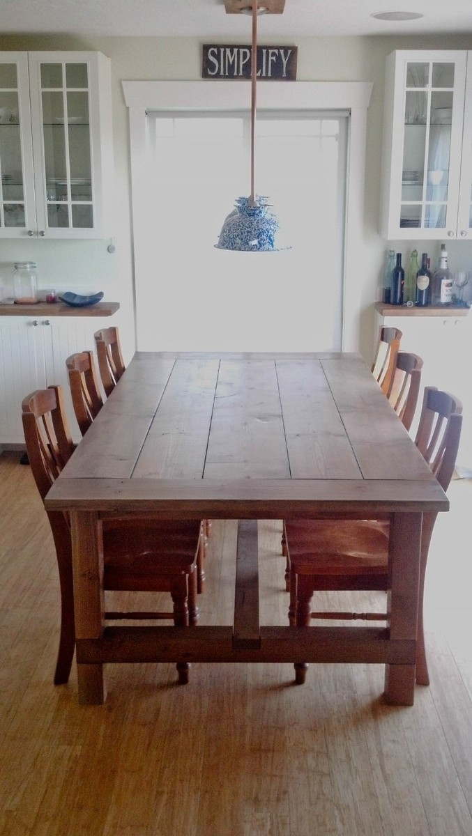 Ana white farmhouse table diy projects for Farmhouse dining room table