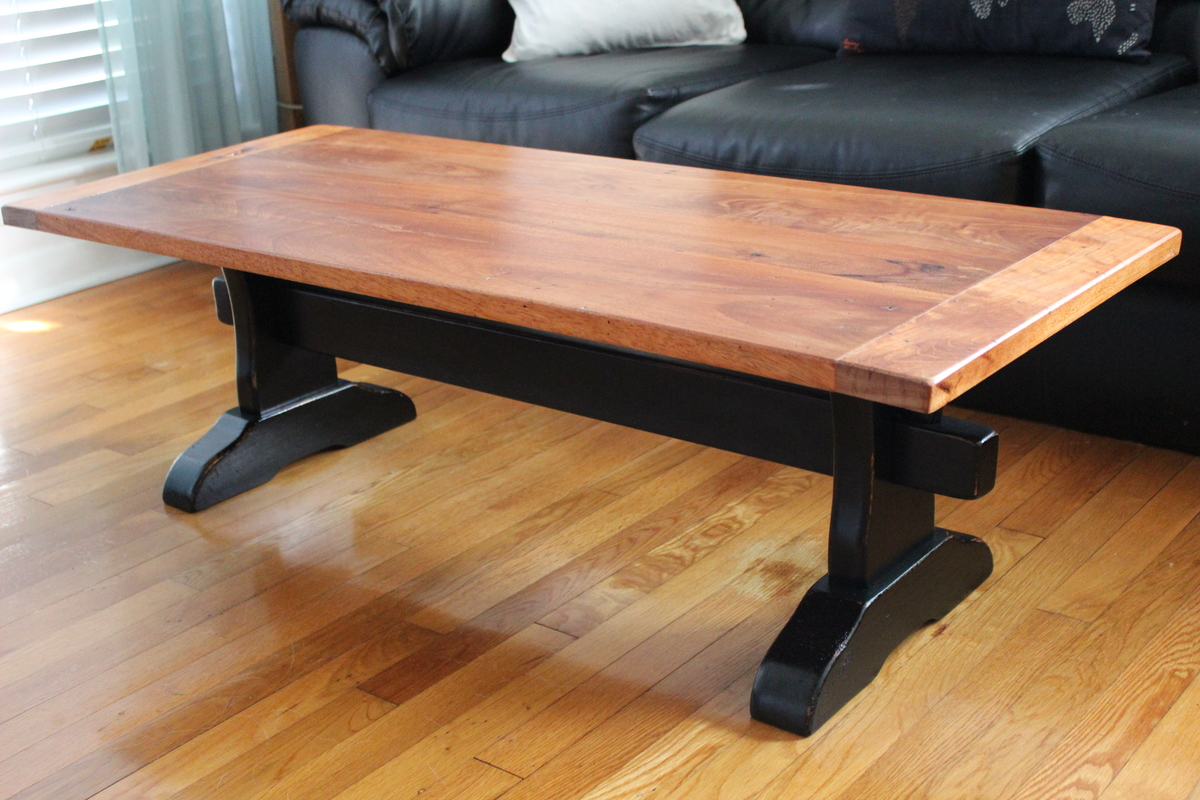Ana White Trestle Table With Mahogany Top Diy Projects