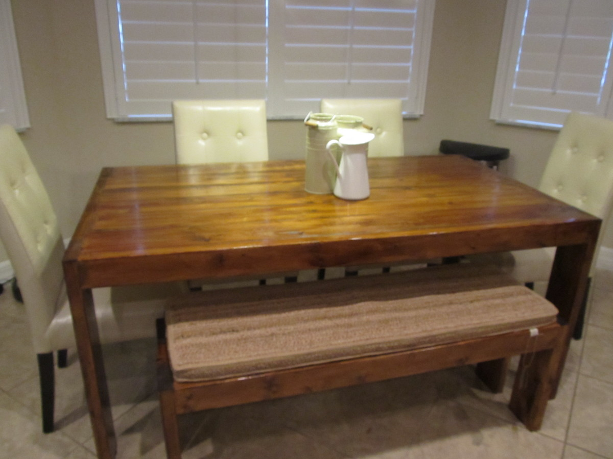 Wooden ana white modern farm table plans pdf download free for Modern farmhouse table plans