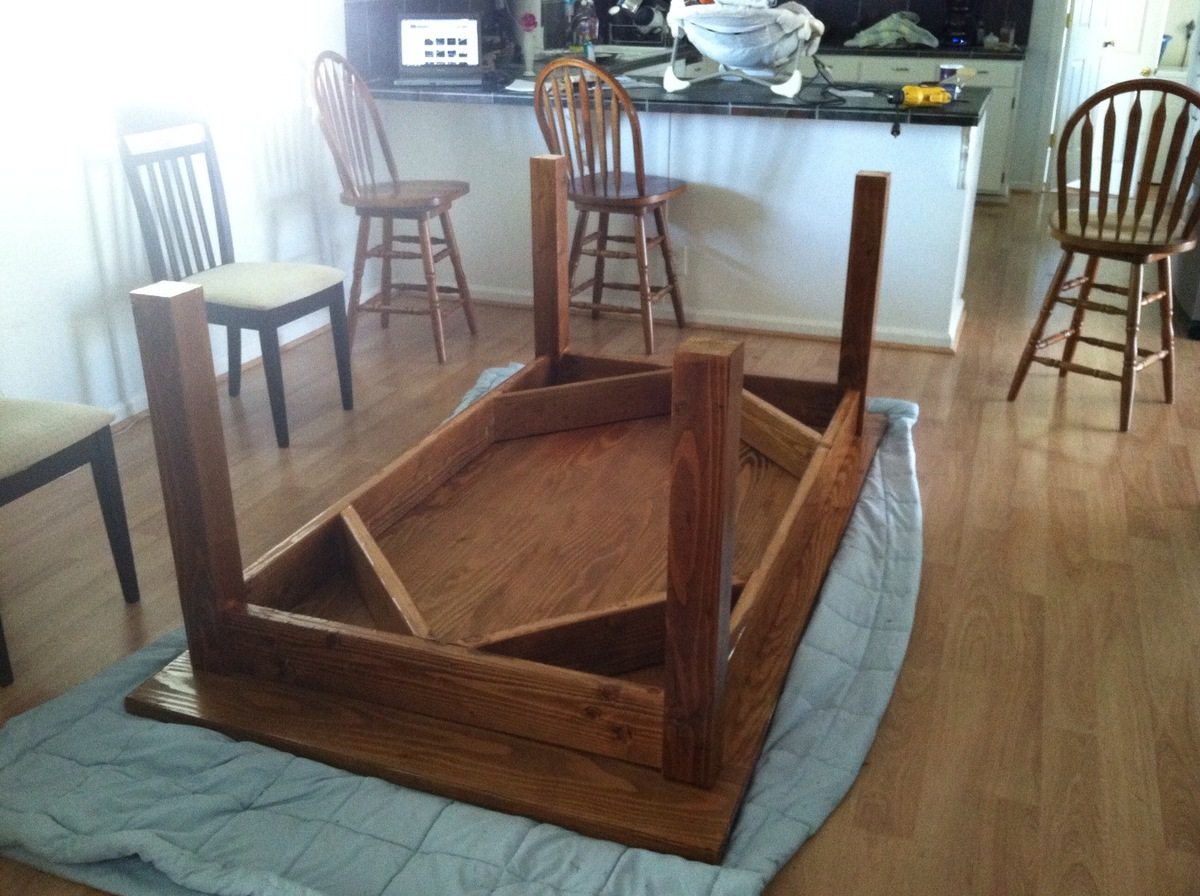 ana white | customized farmhouse table - diy projects Building a Kitchen Table