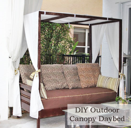 Popular Ana White | Outdoor Canopy Daybed - DIY Projects NO85