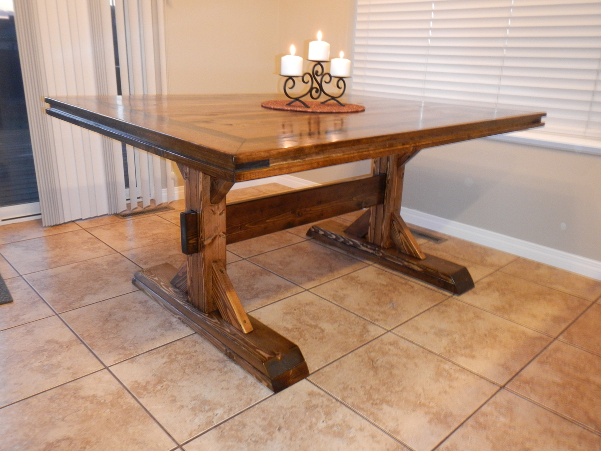 Fancy Farmhouse Double Pedestal Table