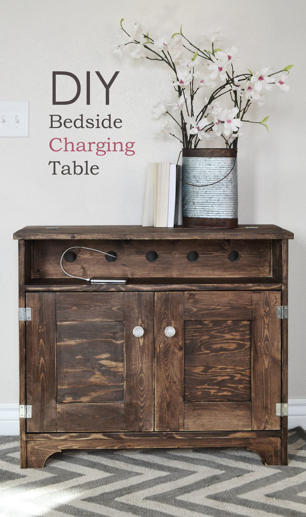 ana white | bedside charging table or nighstand - diy projects How to Build a Bedside Table with Drawers