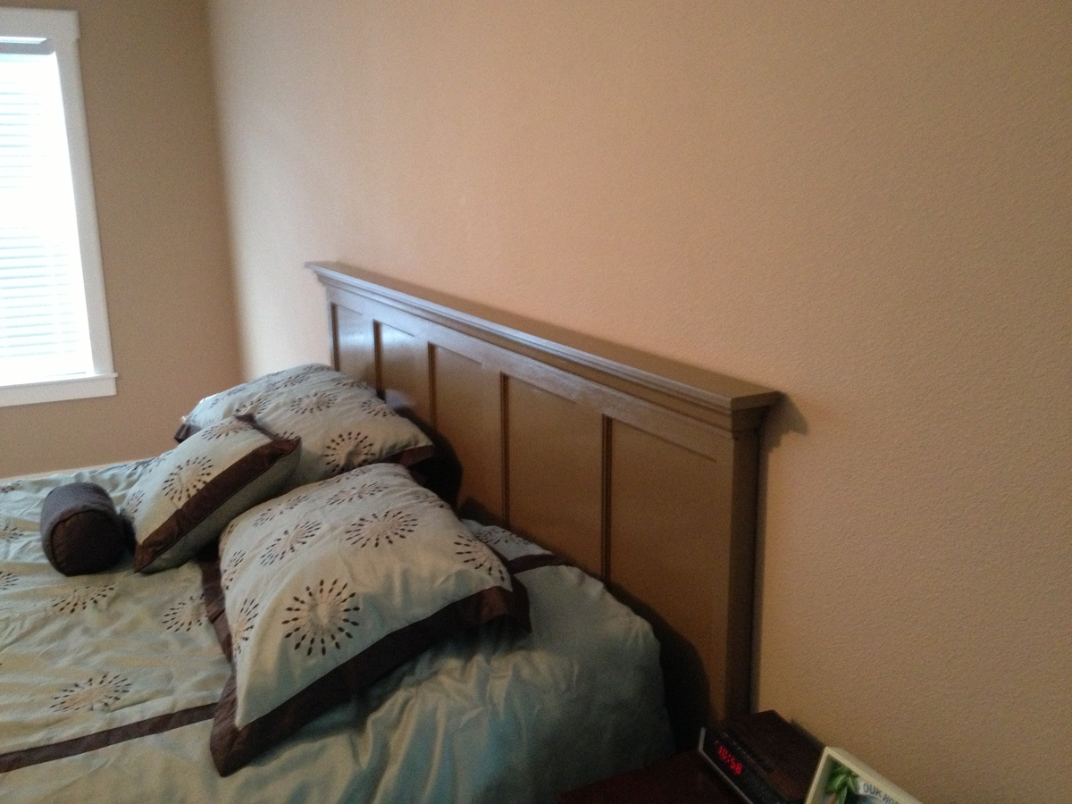 Ana white headboard from a door diy projects for How to make a headboard out of a door