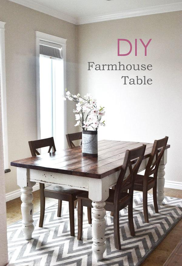 Ana White | Husky Farmhouse Table - DIY Projects