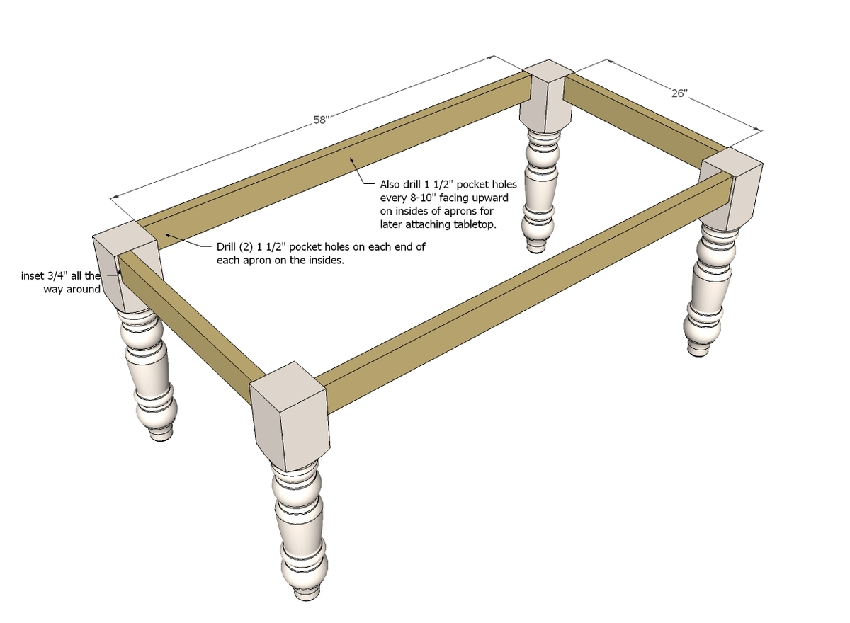 How to build a table base with 4 x 4 lumber - How To Build A Table Base With 4 X 4 Lumber 59
