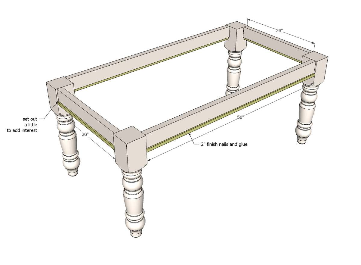 Ana white husky farmhouse table diy projects for Farm table woodworking plans