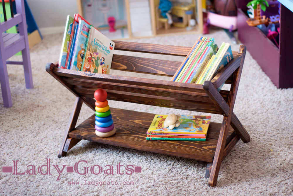 Your Kids Will Love Putting Their Books Away At Just Height An Angle DIY Tutorial From Ana White