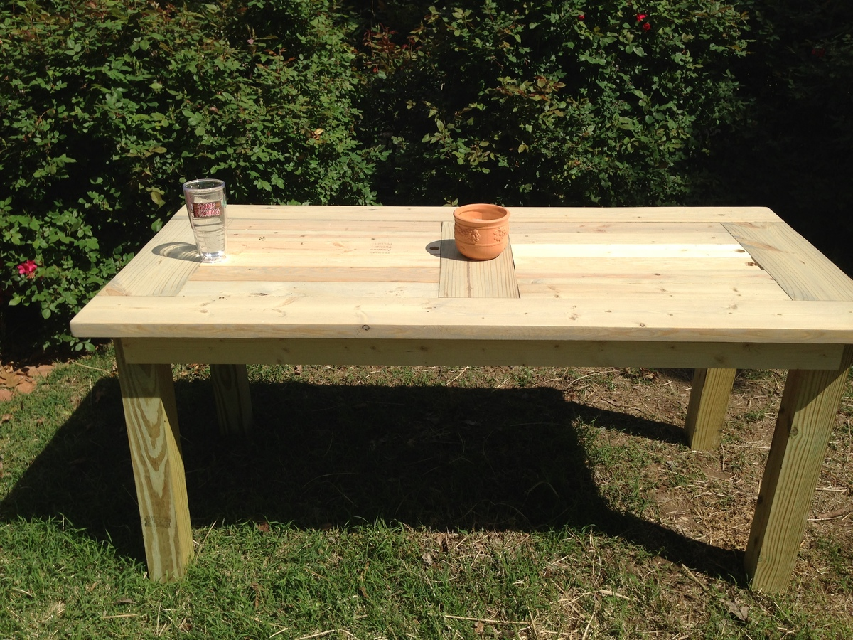 white outdoor dining table diy projects