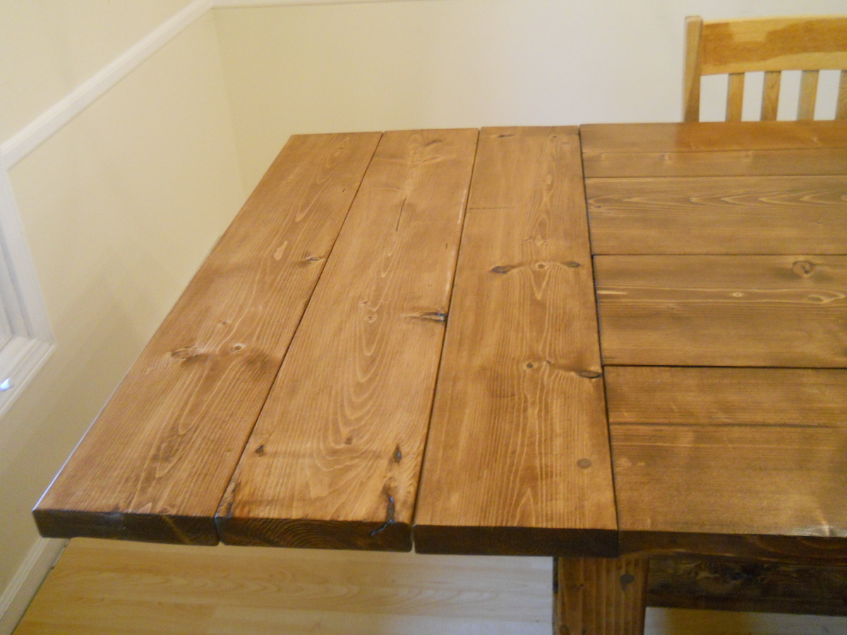 Charmant Farm House Dining Room Table (Modified With Breadboard Extensions)