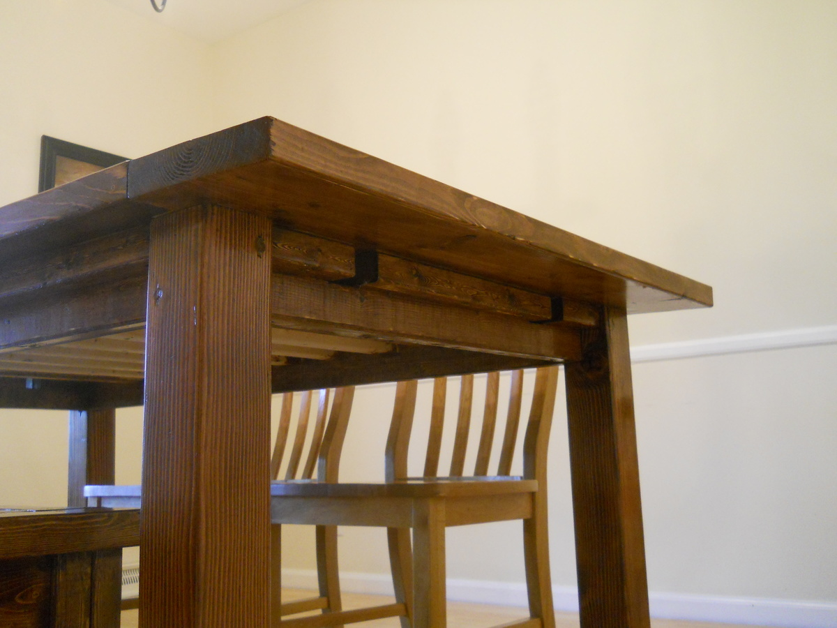 Farm House Dining Room Table (Modified With Breadboard Extensions)