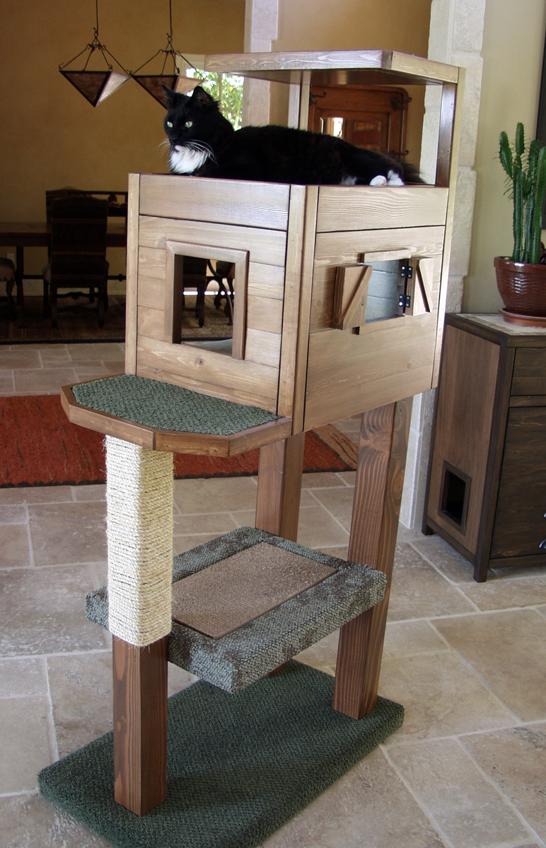 Ana white cat tree condo diy projects for Cat tree blueprints