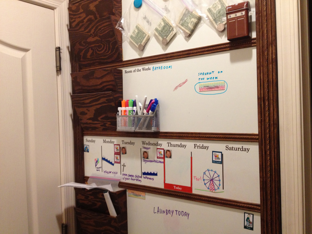 Finest Ana White   Magnetic White Board Organizer Wall - DIY Projects MA38