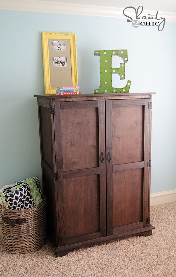 Free Plans To Build A Toy Or Tv Armoire From Ana White.com
