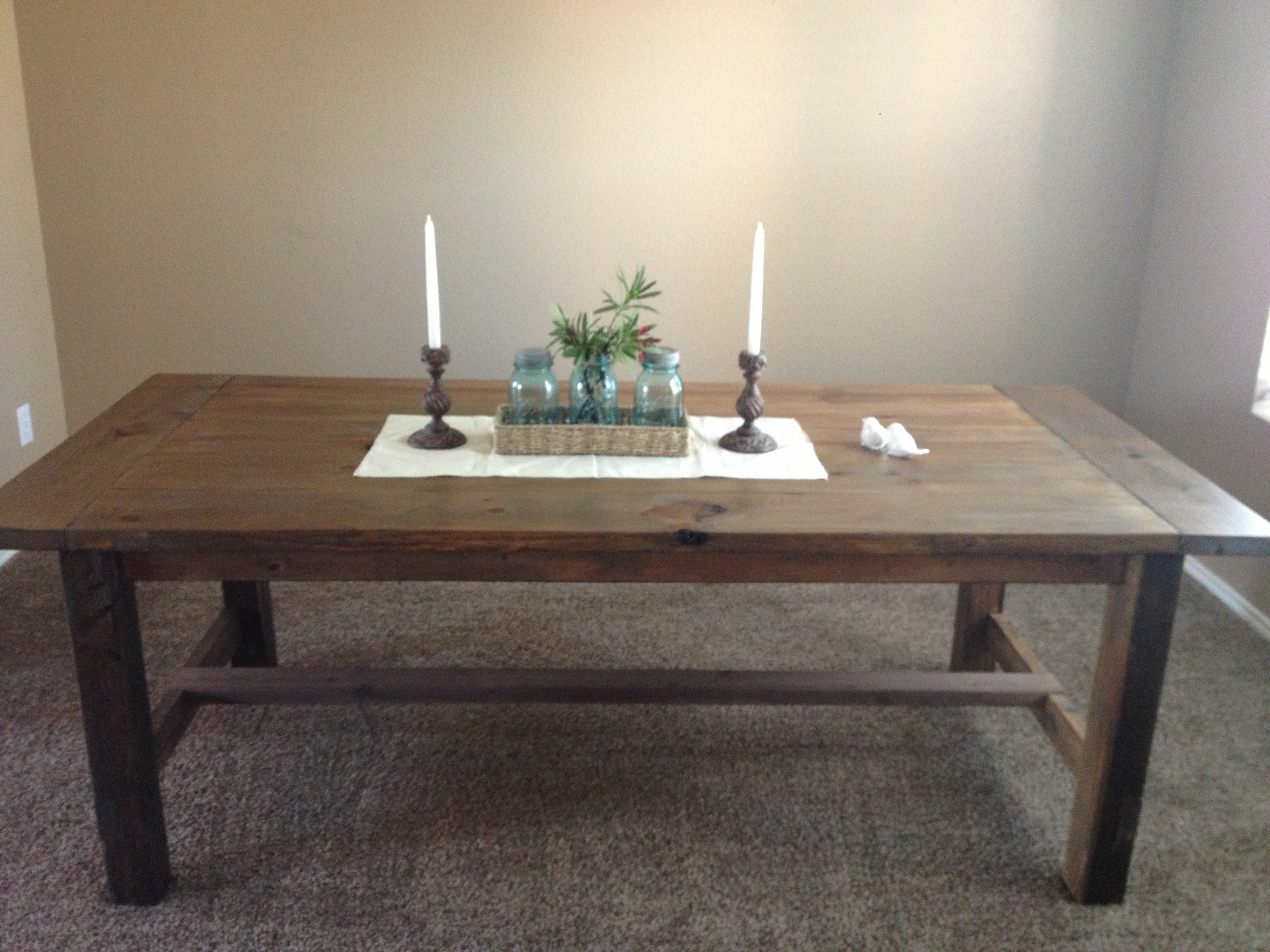 farmhouse dining table with oxidized finish first project
