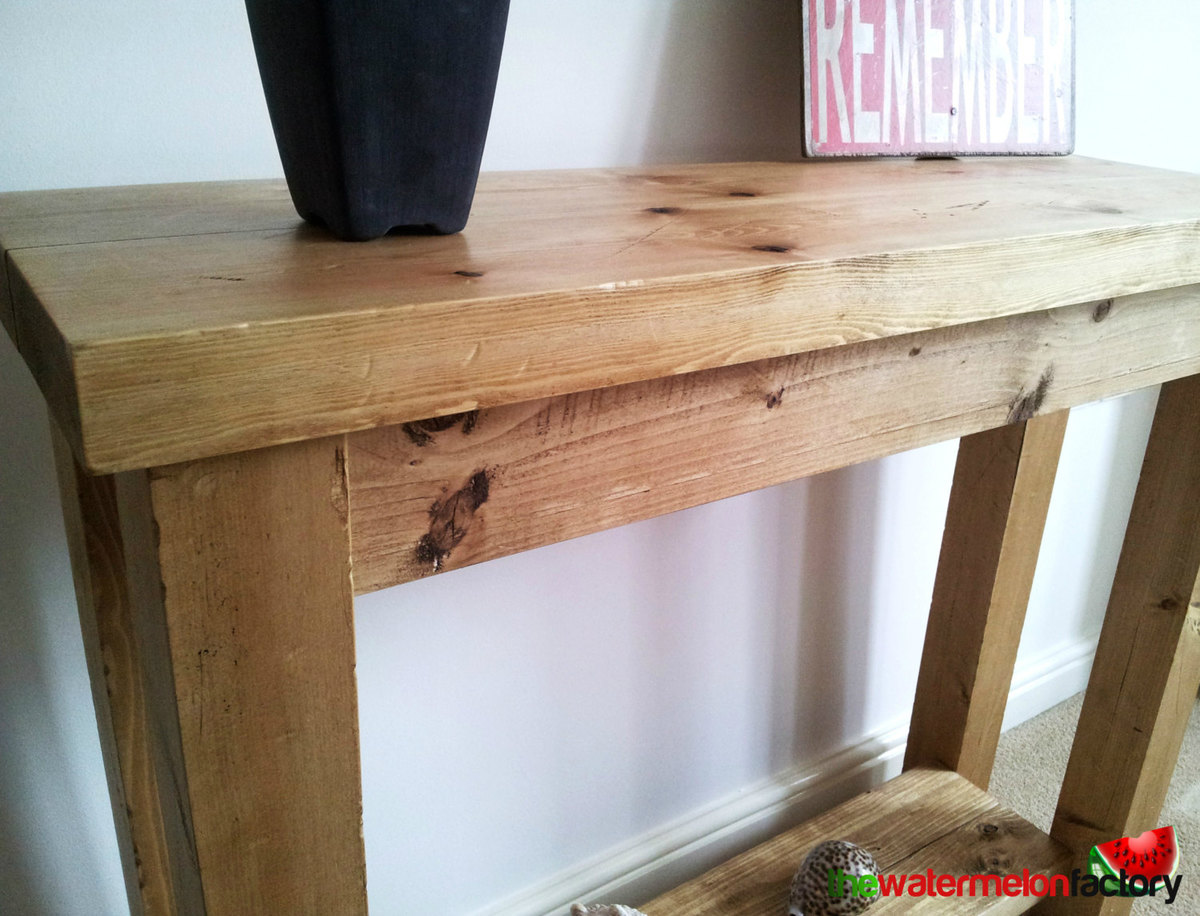 Sofa Table Plans ana white | chunky rustic hall / console / sofa table - diy projects