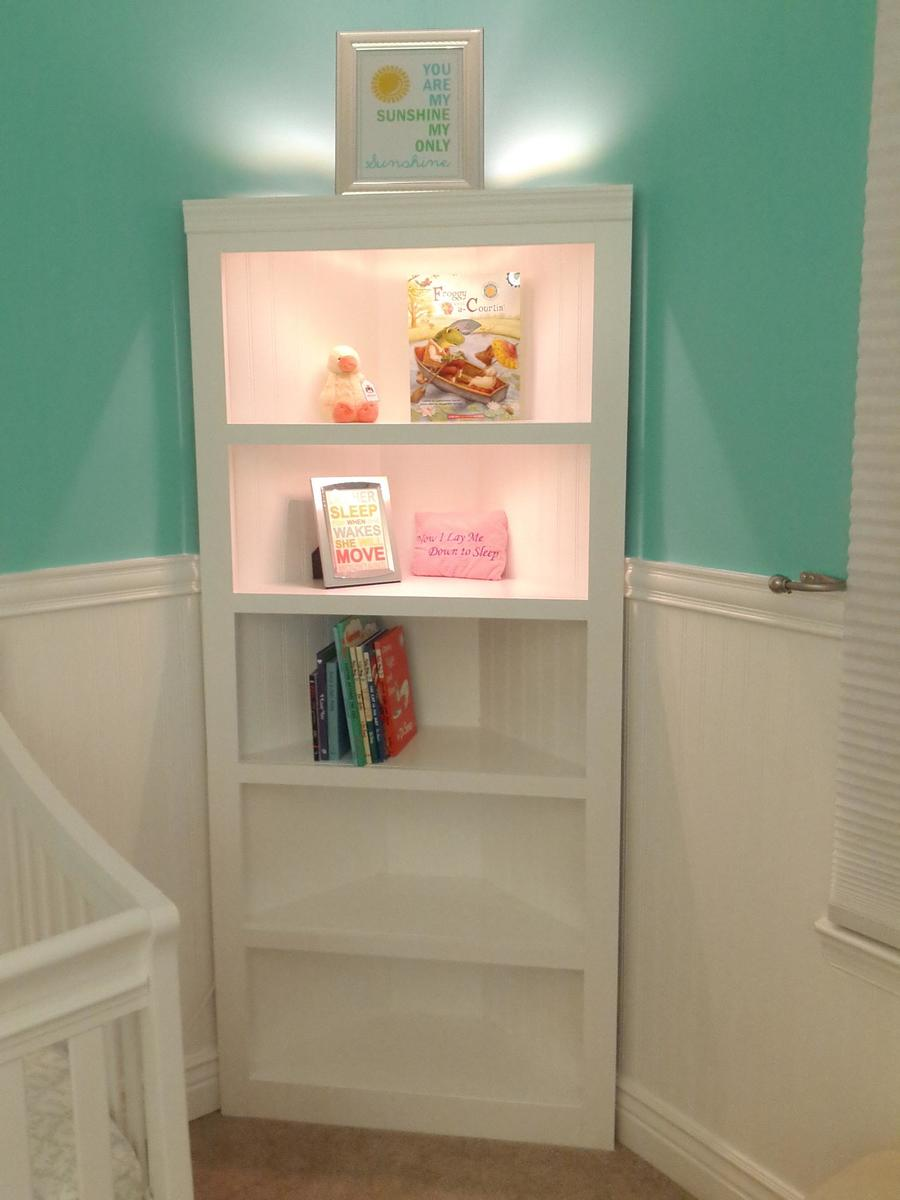corner shelf for nursery - Baby Room Bookshelves