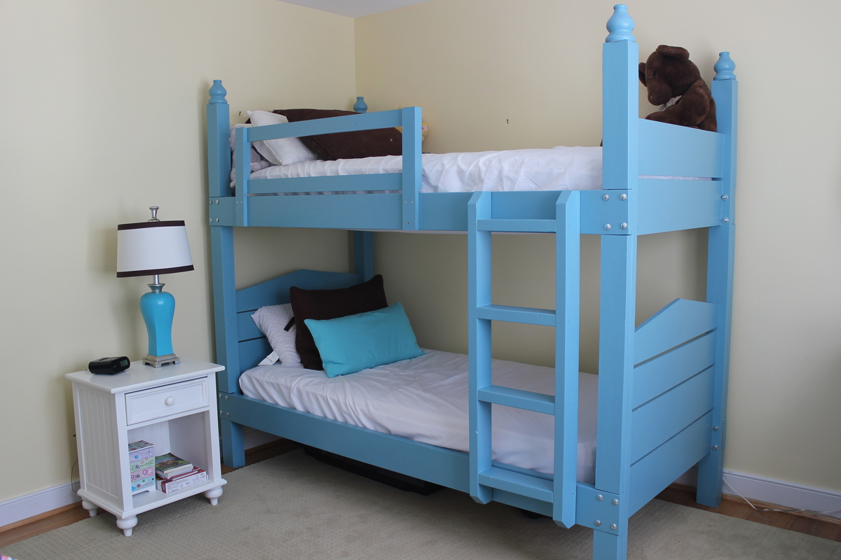 Ana White Bunk Beds With A Maine Cottage Twist Diy