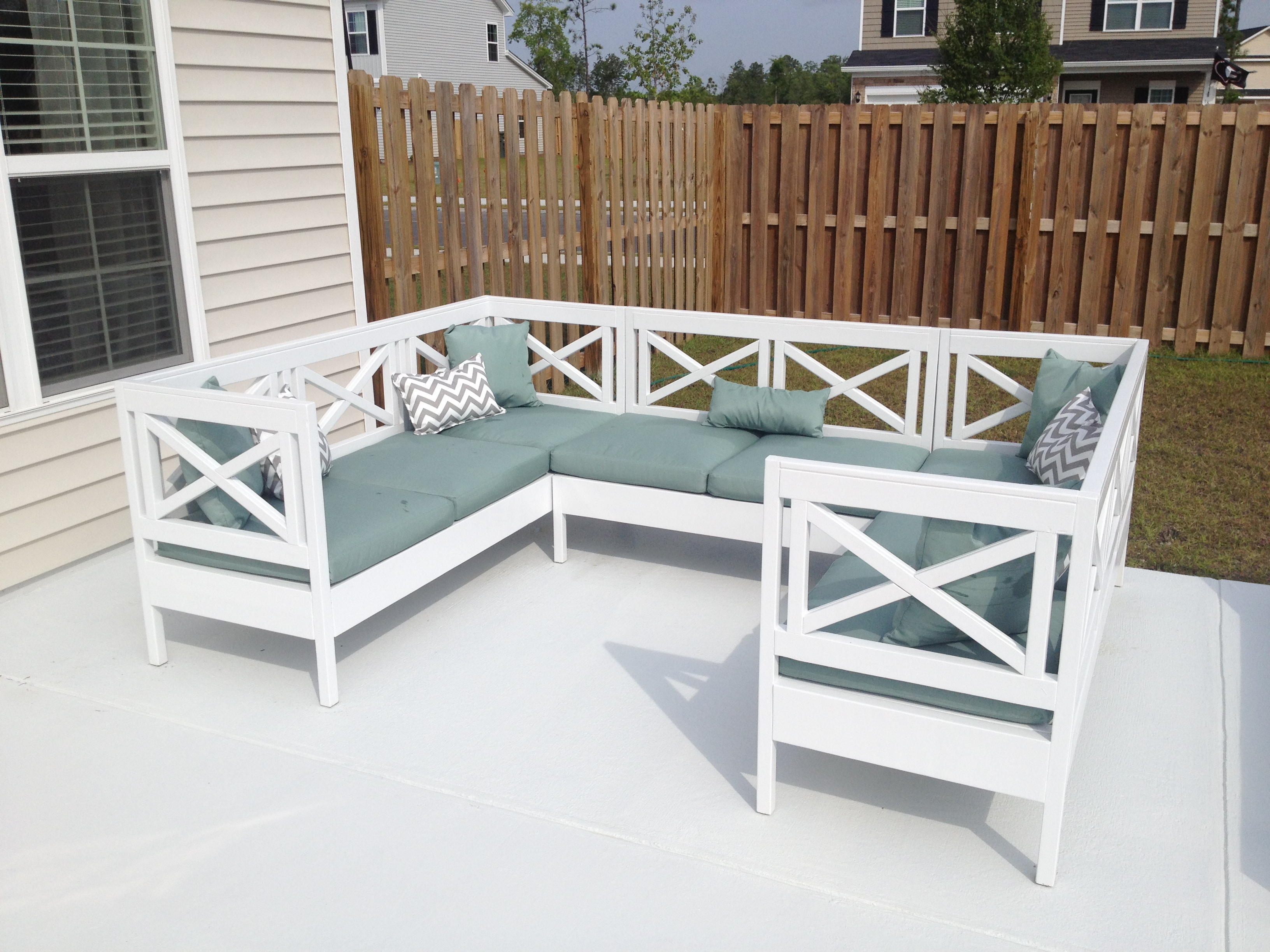 patio furniture white. Weatherly Outdoor Sectional! Patio Furniture White O