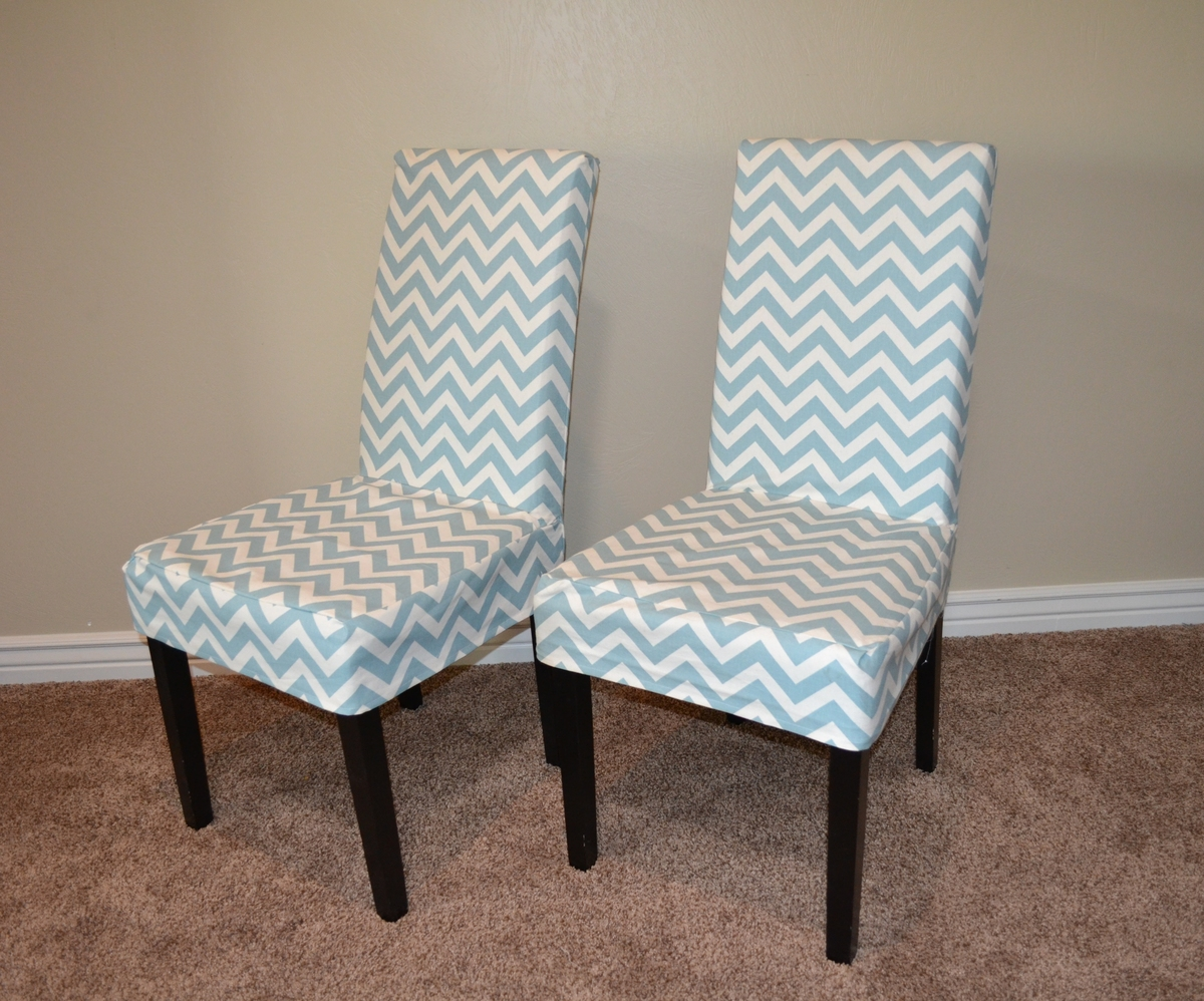 ana white parson chair slip cover with chevron fabric so easy