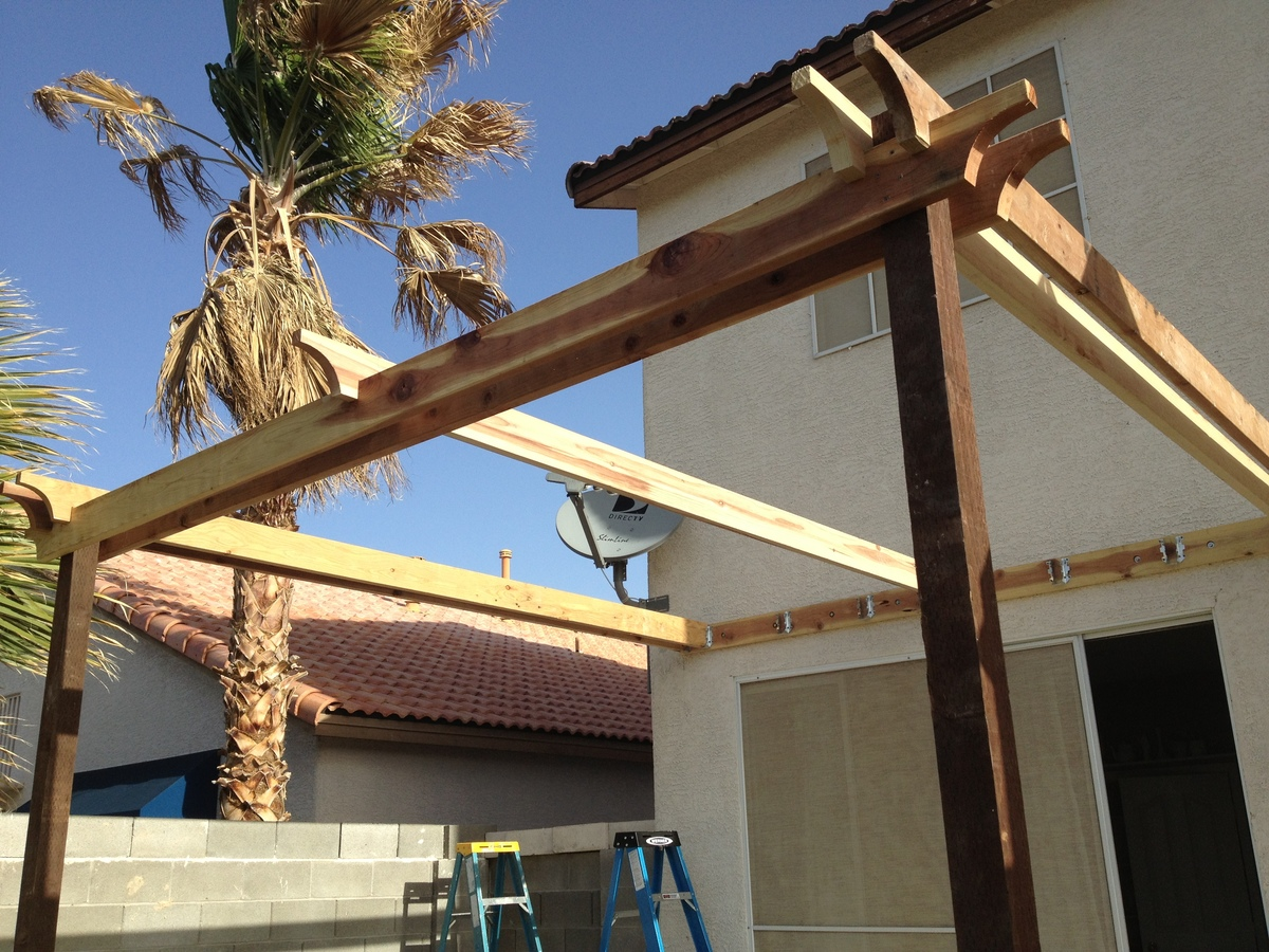 Ana White | Pergola (attached directly to the house) - DIY ...