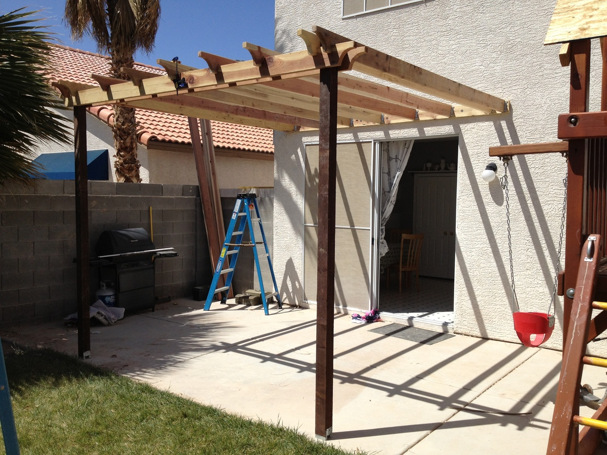 Permalink to Awesome How to attach A Patio Roof to An Existing House