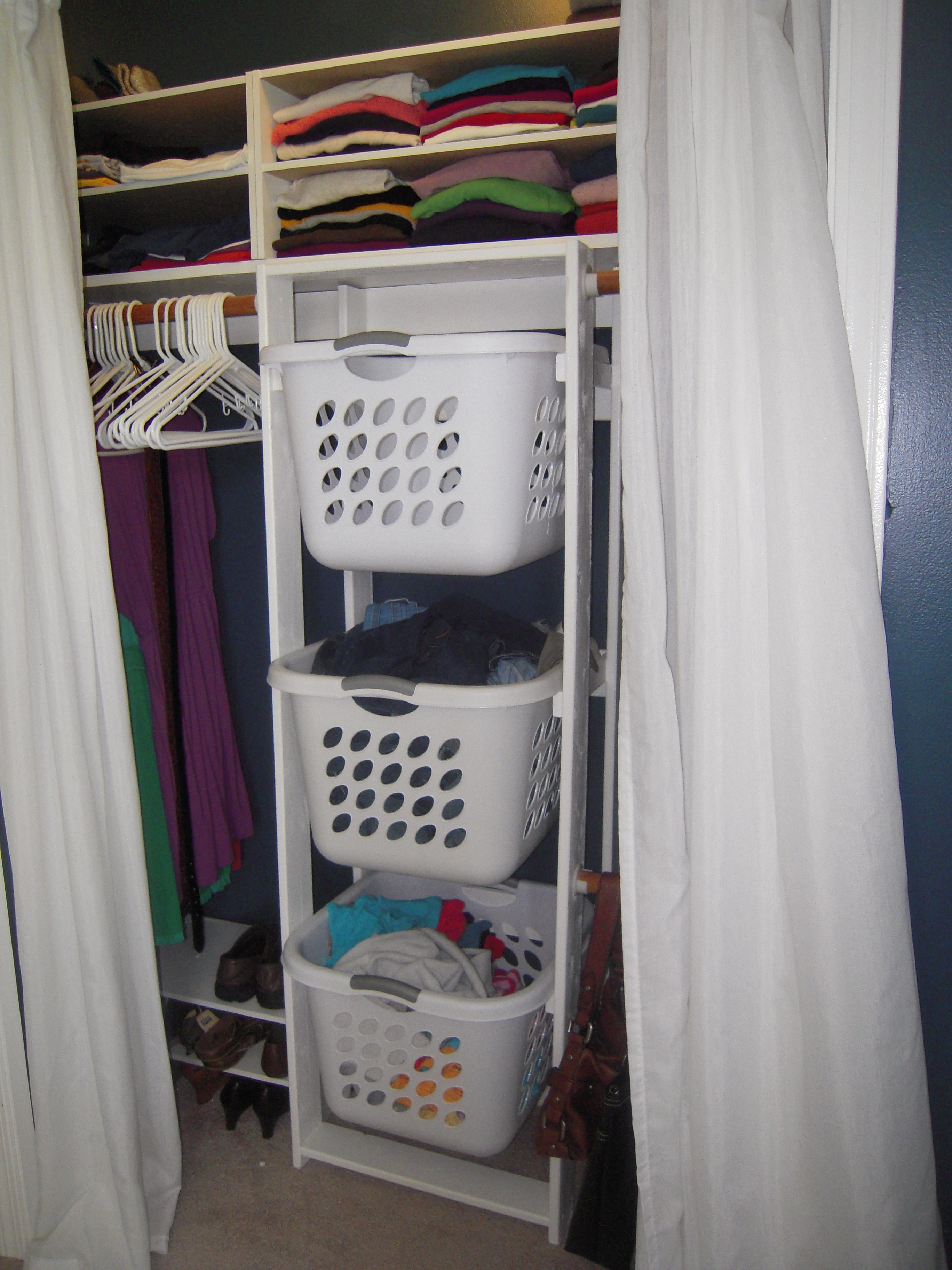Picture of: His Hers Closet Laundry Basket Dressers Ana White