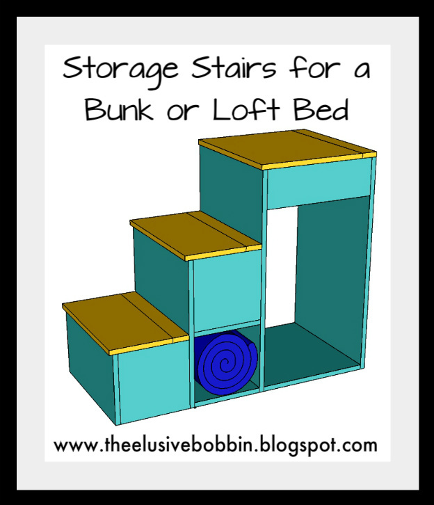 Ana White Storage Stairs For A Bunk Or Loft Bed Diy Projects