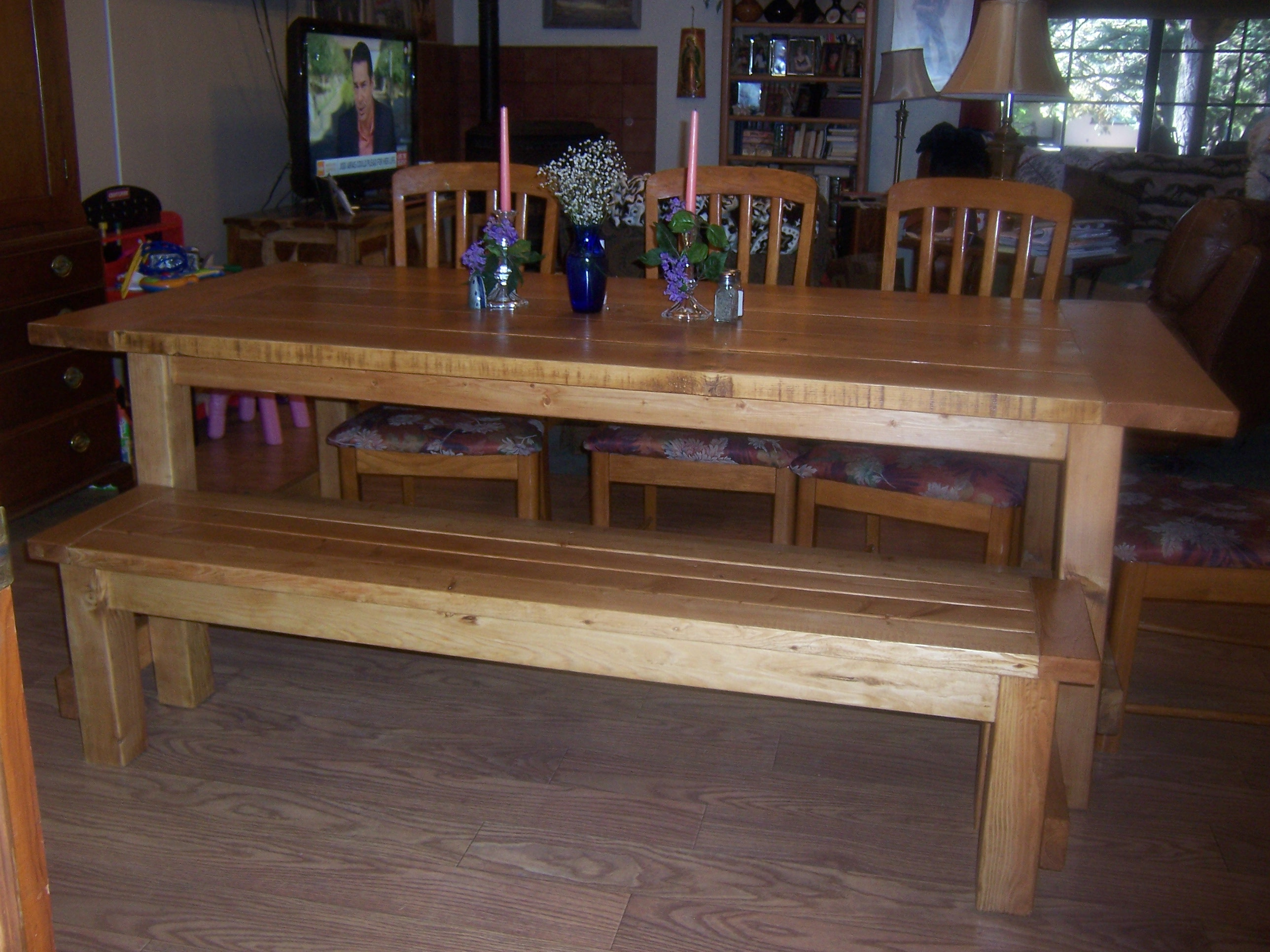Farmhouse Table U0026 Bench