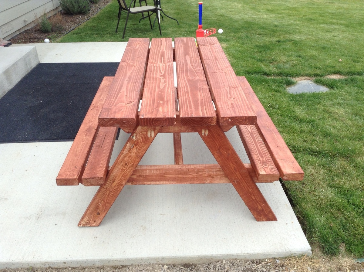 Ana White Bigger Kid Picnic Table Diy Projects