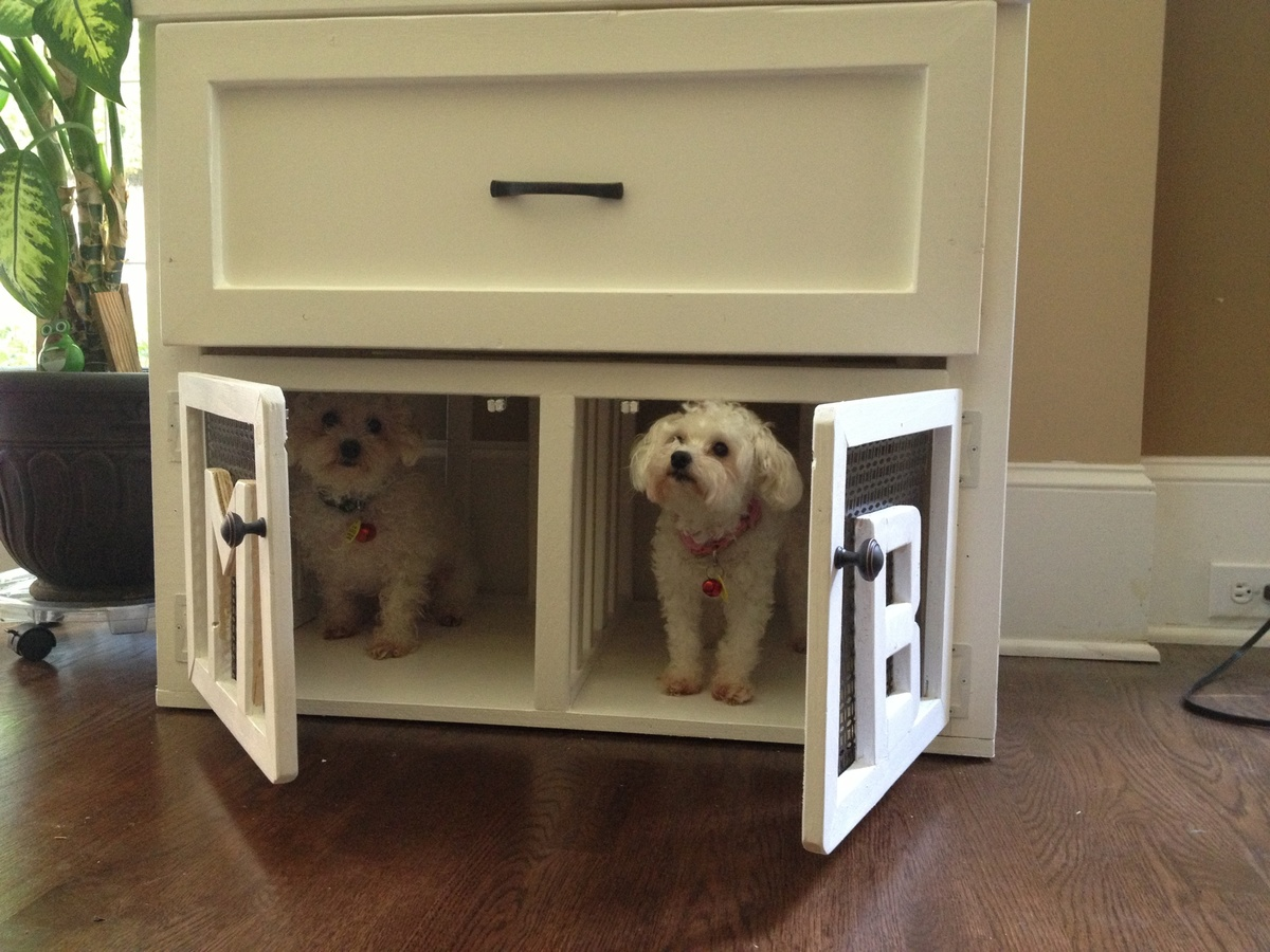 Dog Crate Coffee Table Pet Kennel Side Table Yourself Home Projects
