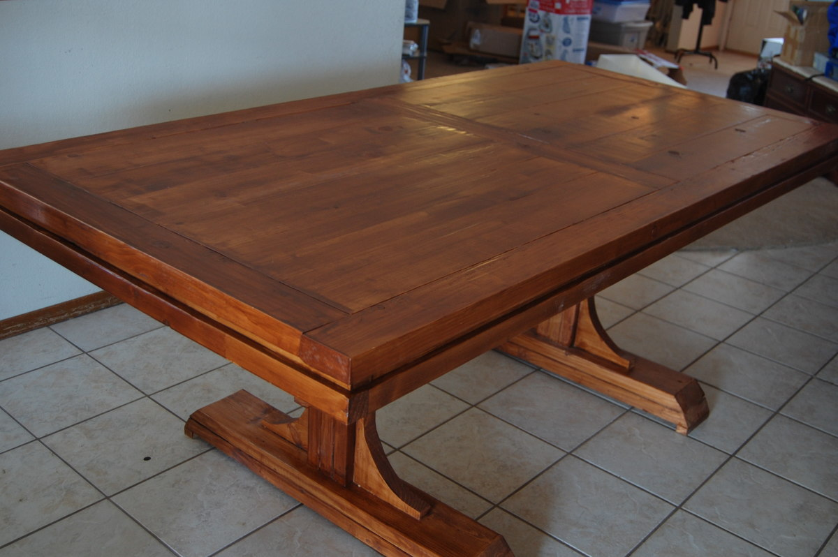 Exceptional Double Pedestal Farm Table
