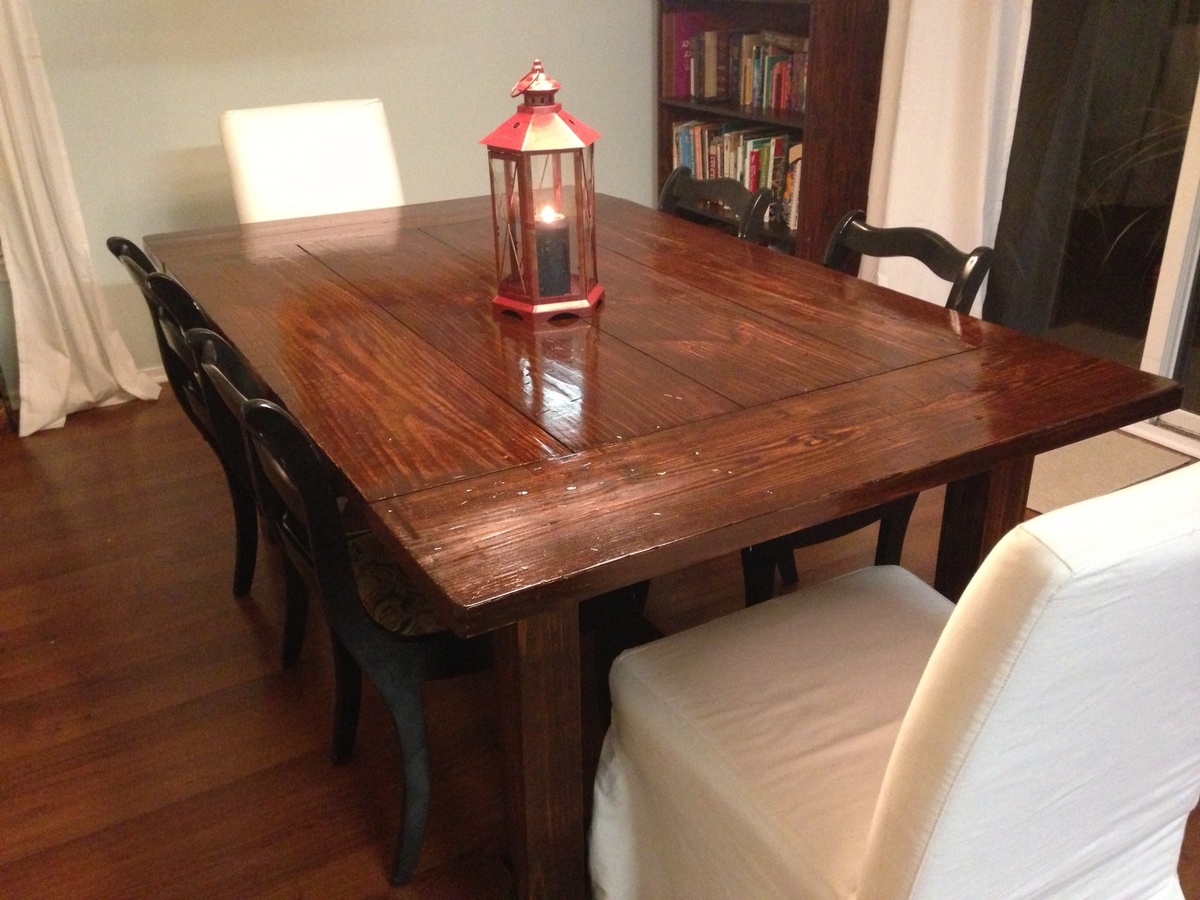 Ana White Farmhouse Table Modified Diy Projects
