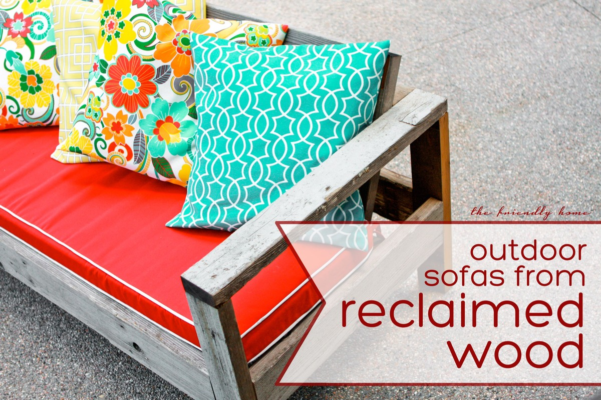 Outdoor Sofa From Reclaimed Wood